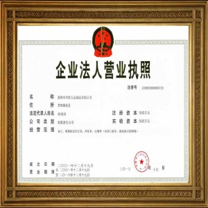 Registered Company Licence