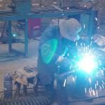 welding of screw pile